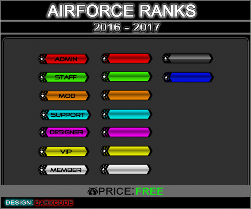 Screenshot for Airforce Ranks Bar