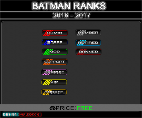 Screenshot for Batman3D Ranks Bar