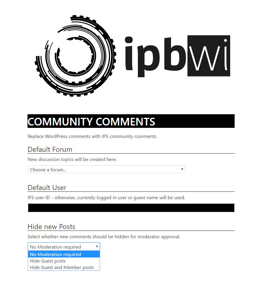 IPBWI for WordPress v4 - Community Comments - Bridges and