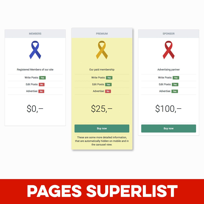 Pages SuperList