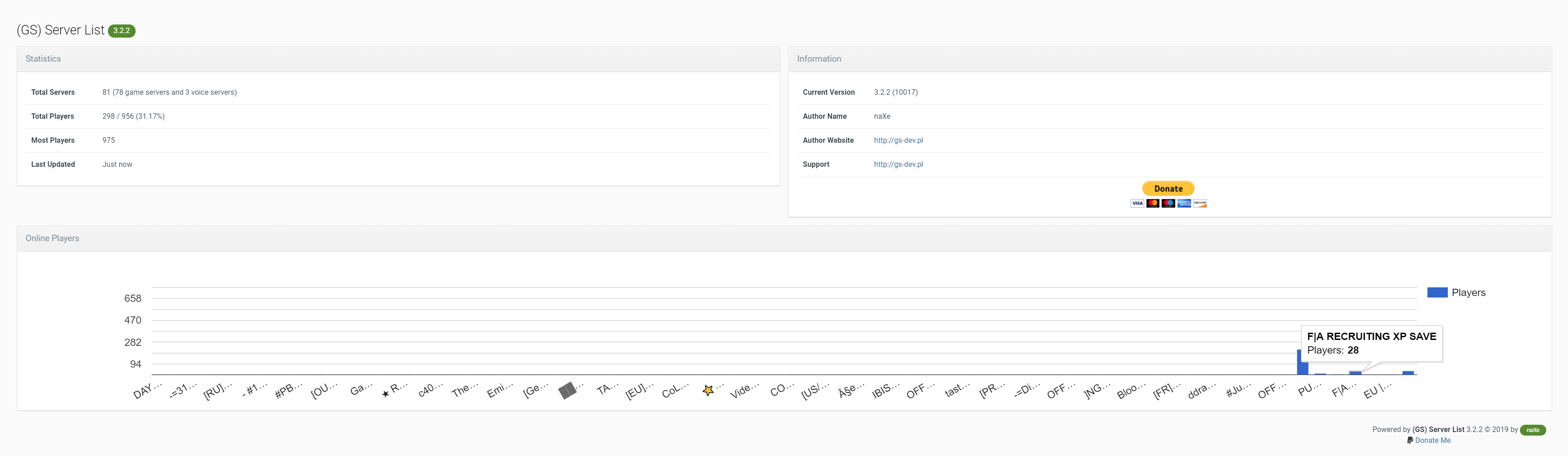 GS) Server List - Utilities and Stats - Invision Community