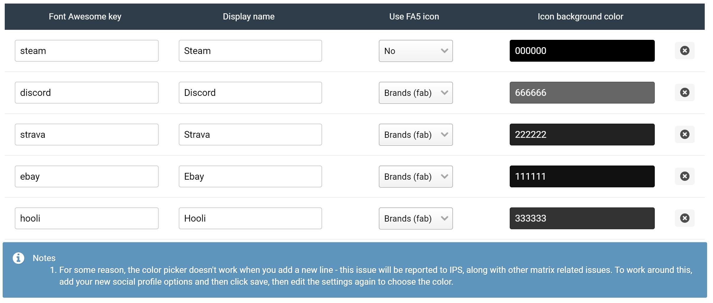 (NE) Add additional Social Profiles